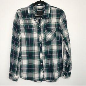 Rails Hunter Plaid Button Down Flannel Shirt S